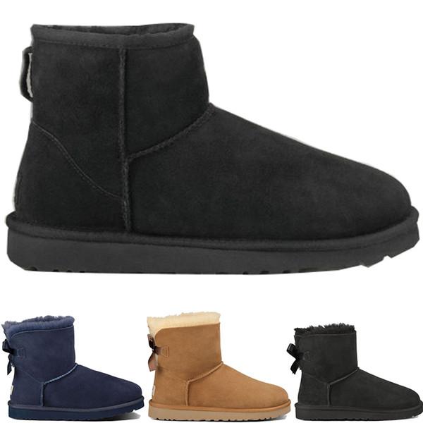 Mens Designer winter snow Boots Australia fashion WGG tall boots U G leather Bailey Bowknot women's bailey SHORT bow Knee WOMEN men shoes