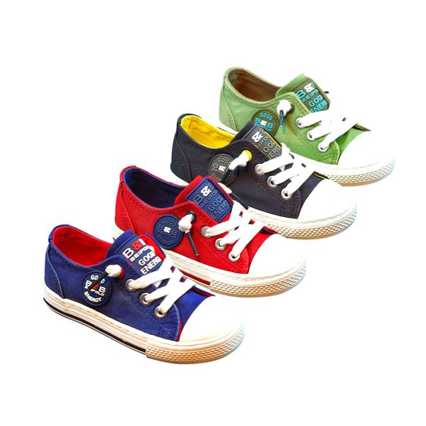 2018 new girls a pedal shoes spring and autumn children canvas shoes boys casual kids sneakers Breathable Athletic Outdoor baby sports shoes