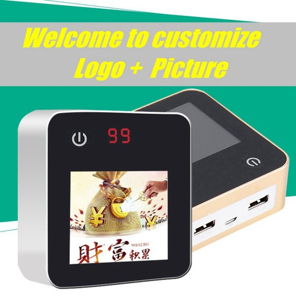 Special 0ffer Creative advertisement machine picture scroll player LED screen Power Banks 6600mAh backup Charging Battery