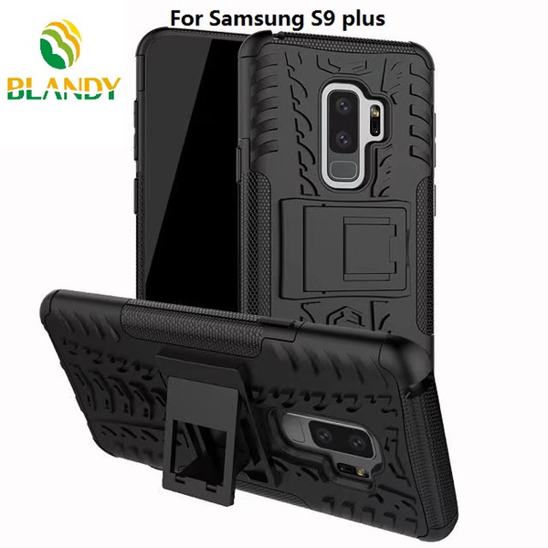 for samsung galaxy S9 plus 2 in 1 Comb Armor Hybrid TPU+PC Hard Cover Stand support Case for samsung J2 pro 2018