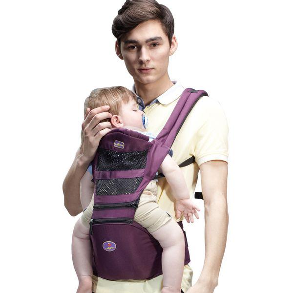 تنفس مريح الطفل الناقل ظهره المحمولة الرضع الطفل الناقل الكنغر hipseat أكوام حبال التفاف تحميل 20 كيلوجرام