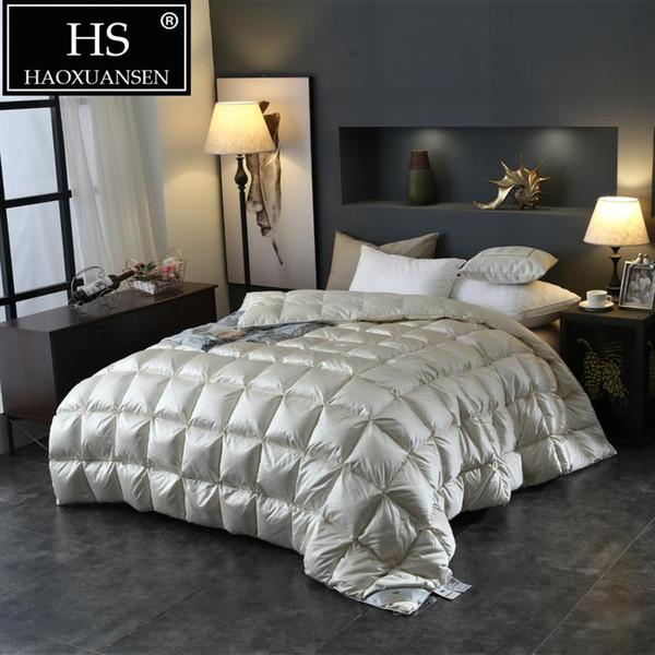 Acheter Hs Remplissage Puissance 800 95 Duvet Consolateur Soie Imite Tissu Blanc King Size Pain Quilt Maison Literie Chambre De 1791 16 Du Natal