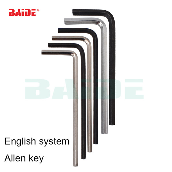 British system 1/16 5/64 3/32 7/64 1/8 9/64 5/32 3/16 7/32 1/4 Inch Hex Key Repair Tool Hand Tool Allen Wrench 200pcs/lot