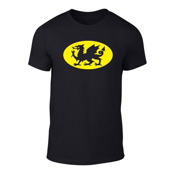 Superhero Welsh Dragon - Welsh T-Shirt Football Wales Rugby S - XXL Funny free shipping Unisex Casual tee gift