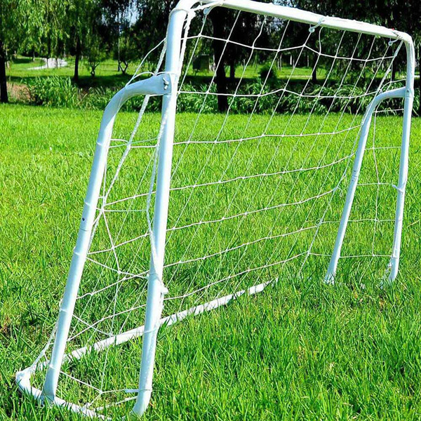 8' x 5' Soccer Goal Training Set with Net Buckles Ground Nail Football Sports US Stock