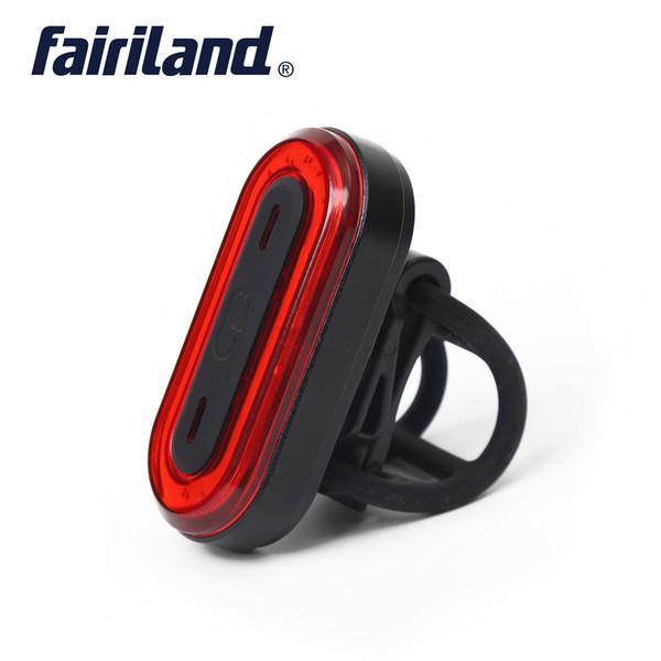Fairiland Fahrradrücklicht COB Hohe Helligkeit Led perlen 50 lumen USB Wiederaufladbare aluminiumlegierung rahmen sicherheitswarnlicht