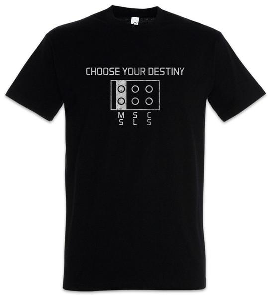 Elija su Destiny T-Shirt Plug Nerd Geek Fun Msc SLS Divertido envío gratis Unisex Casual camiseta de regalo