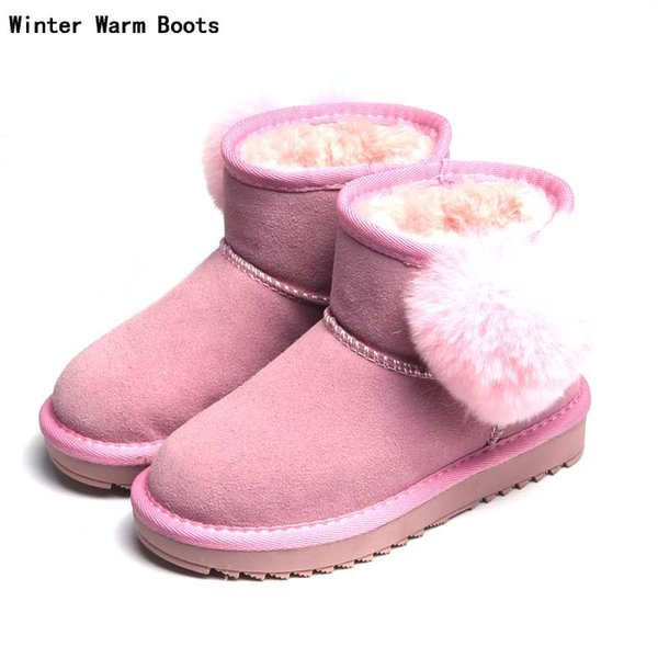 Boots Women Snow Boots Chaussure Female Woollen Heart-shaped Ankle Boots With Velvet Winter Warm Shoe Woman Botas Footwear #49