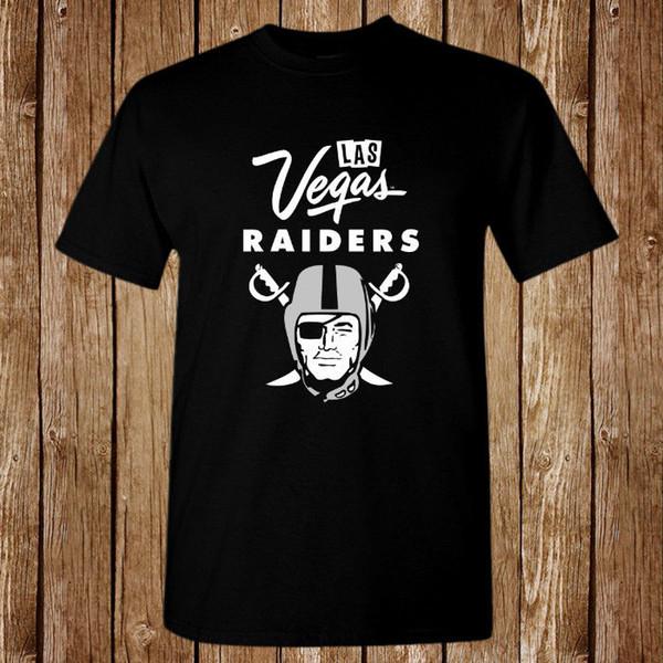 T-shirt New Raiders Las Vegas Logo taglia S-5XL