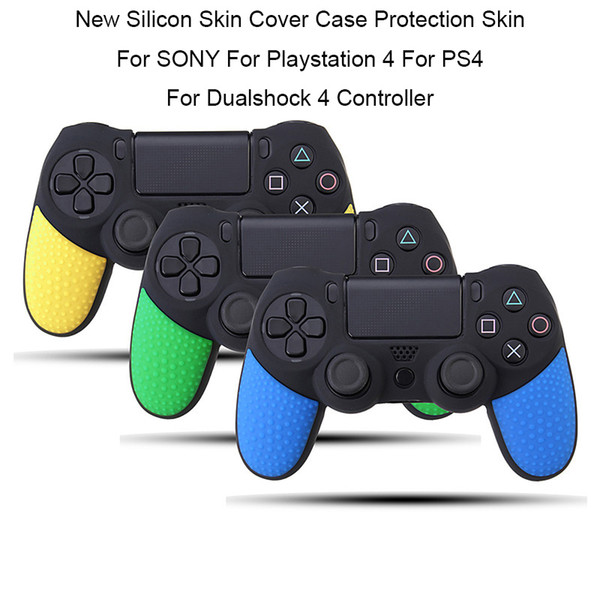 top popular Dual Two colors Non-slip Rubber Durable Silicon Silicone Skin Cover Case Gamepad Protective Sleeve For Playstation 4 For PS4 FREE SHIPPING 2019