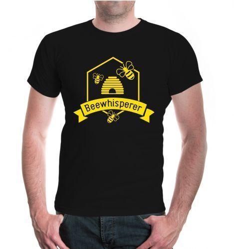 Herren camiseta unisex Kurzarm Beewhisperer Bienenhaus Imker Biene Bienenwabe Mens 2018 moda marca camiseta O-cuello 100% algodón