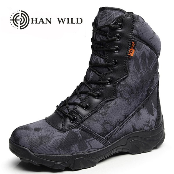 Winter Men Army Boots Vintage Lace Up Front Leather Mens High Top Safety Work Shoes Combat Ankle Boots
