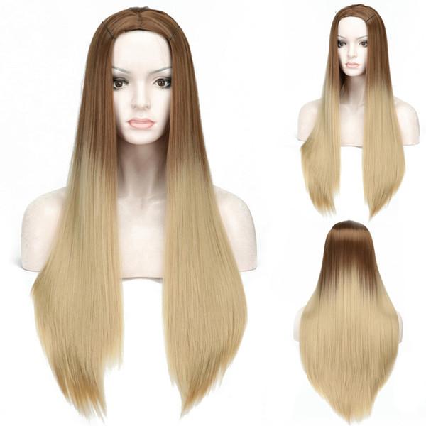 Haare farbverlauf braun blond