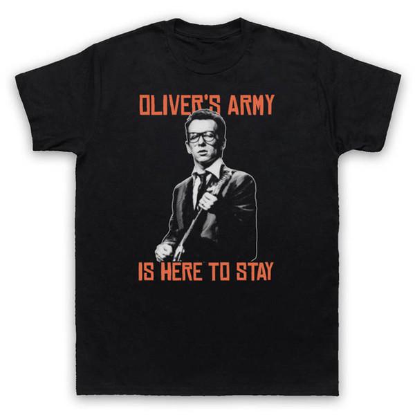 2018 Newest Fashion Men's girocollo manica corta Natale Oliver'S Army Elvis Costello Shirt