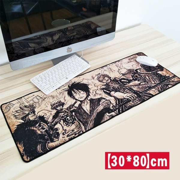 30*80CM Large One Piece Mouse Pad Gaming Mice Mat Skid Natural Rubber Keyboard Pad Table Mat for CS GO Dota 2