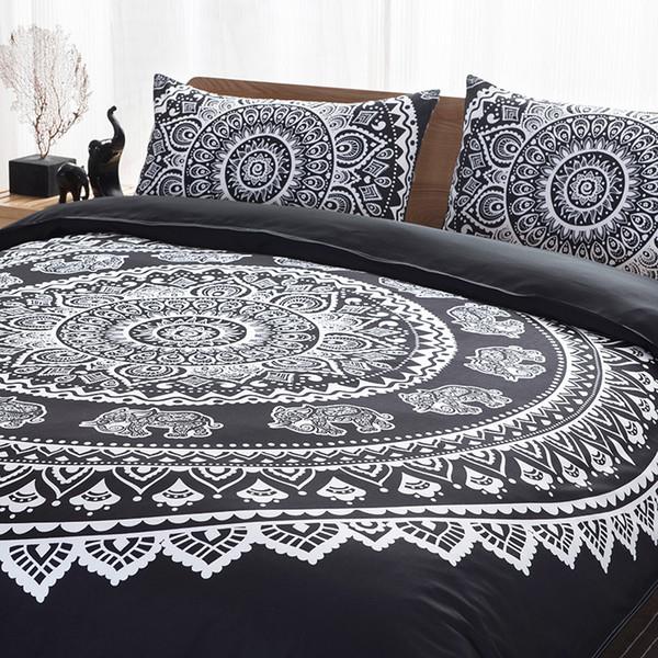 Quilt Blanket Cover Pillowcase Bohemian Pattern Bedcover Bedding Summer/Winter