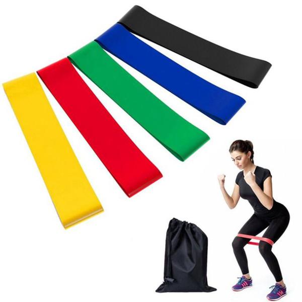 5 UNIDS Set Resistance Band fitness 5 Niveles Latex Gimnasio Entrenamiento de Fuerza Bucles de Goma Bandas de Fitness Equipment Sports cinturón de yoga Juguetes