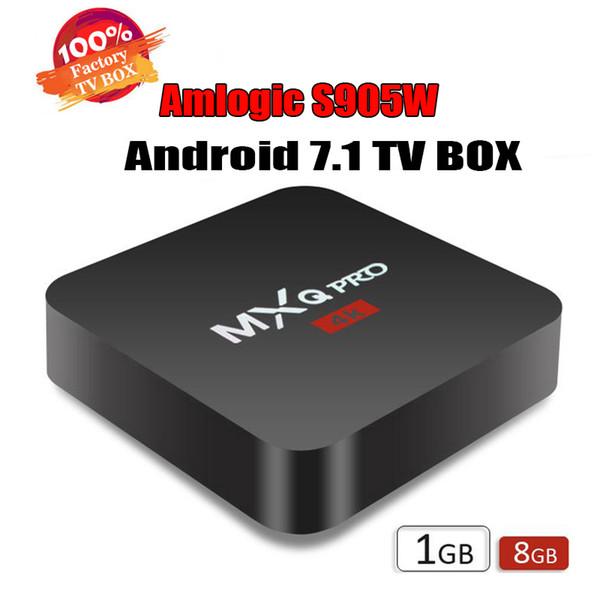 Factory Best seller MXQ Pro 4K TV Box Android 7.1 Amlgoic S905W Customized TV Box 4K Media Player OEM ODM