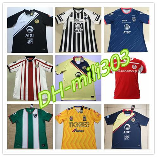 online retailer 99496 1b2ca 2019 2018 2019 Mexico Liga MX CHIVAS Guadalajara Club America UNAM TIGRES  Monterrey Cougar Soccer Jerseys 18 19 Cuervos Football Shirts Uniform From  ...