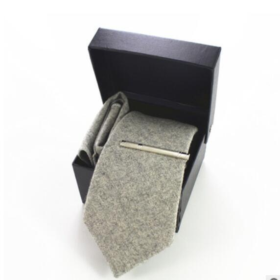 Mens fashion ties business suit dress four pieces wool tie size: full length 148cm * big arrow 8cm * small arrow 3.2cm