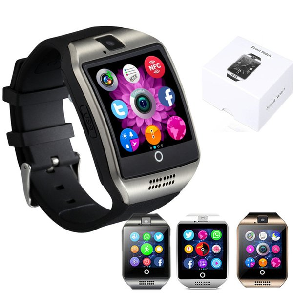 Bluetooth Smart Watch Q18 Support Sim TF Card Camera Answer Call Clock Sports Health Smartwatch for ios Android Phone Smartphone