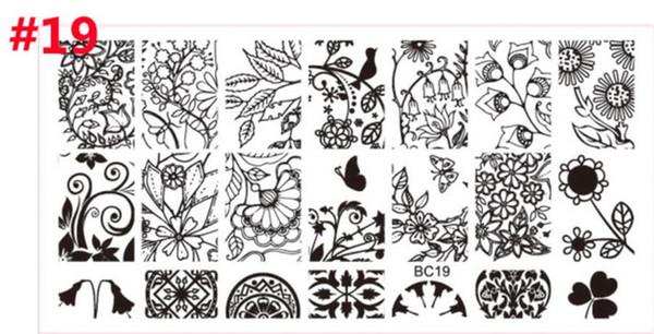 Hot Beleza Beleza Plástico Carimbar Placas Definir Stamper Raspador Nail Art Selo Polonês DIY Prego Art Template Set Manicure Ferramentas Prego
