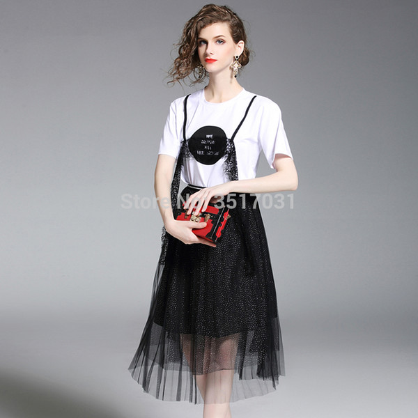 c99bf9c7f161 summer tops for women 2018 2 piece set women women dress lace short - sleeve  round