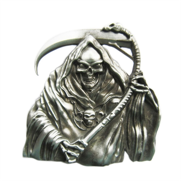 New Vintage Grim Reaper Skull Western Wildlife Vintage Wedding Cosplay Costume Belt Buckle Gurtelschnalle Boucle de ceinture