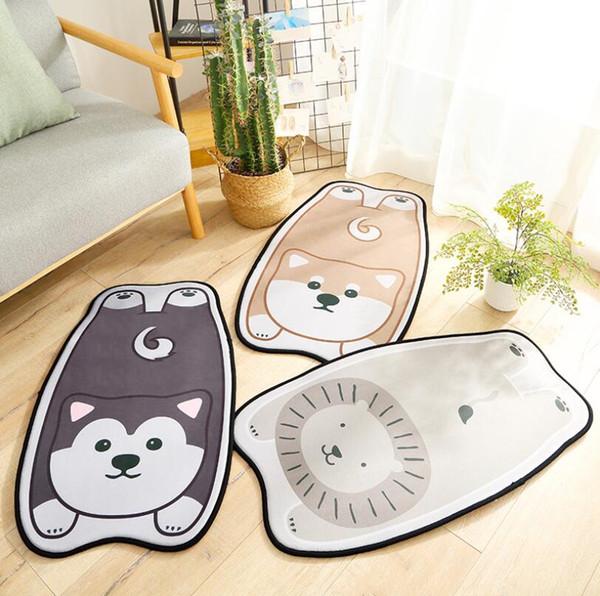 12mm Thick Cartoon Dog shape Animals Tapete For Living Room Bedroom Home Decor Carpet Rug Children Kids Soft Play Mat bathroom
