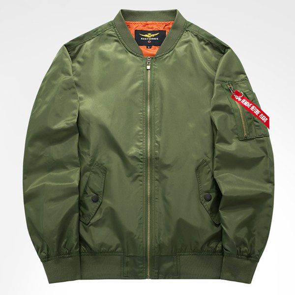 2018 Autumn Casual Bomber Jacket Men Stand Collar Jaqueta Masculina Army Green Male Pilot Jackets And Coat Dropshipping