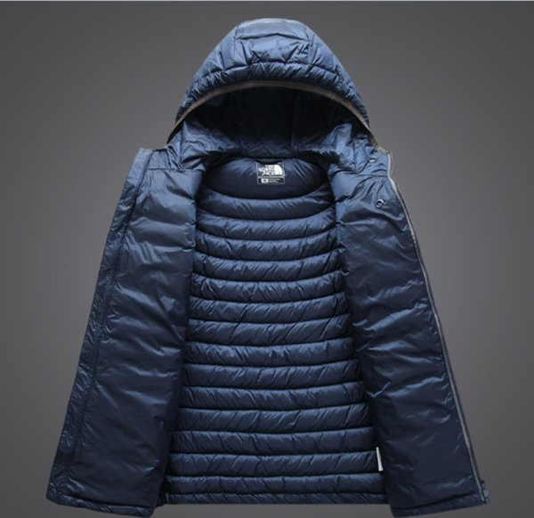 Großhandel Top Herren Klassische Marke Mode Komprimieren Daunenjacke Outdoor Sport Bequem Tragen Mit Kapuze Warm Halten Lose Mantel Lässige Kapuze