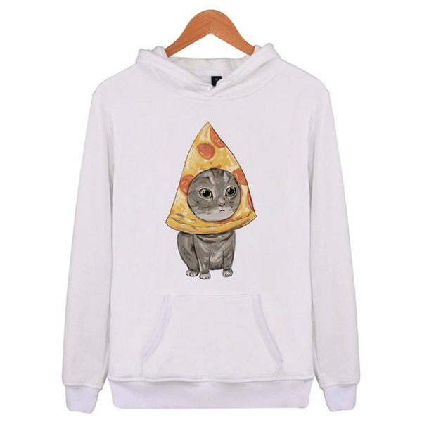 Cute Kitty Hooded Mens Hoodies and Sweatshirts Oversized for Autumn with Hip Hop Winter Hoodies Men E4109