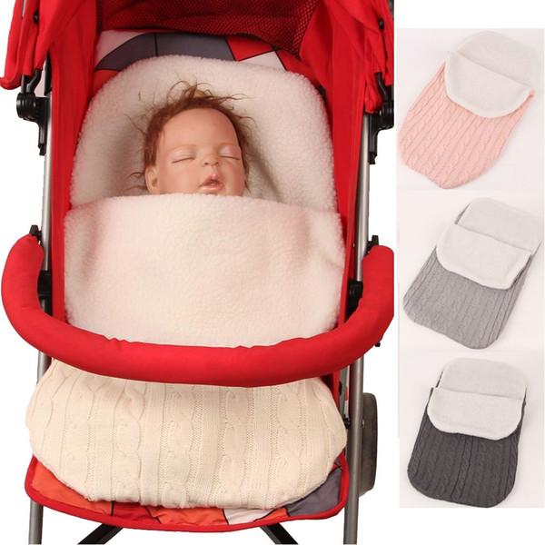 Winter Warmer Newborn Sleeping Bags Baby Stroller Sleepsack Infant Receiving Blankets Babies Envelope SleepSack Flannel Bunting