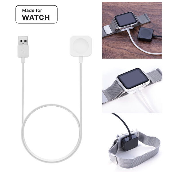 1m Metal Shell charger cable For apple iwatch 123 smart watch bracelet Magnetic charging cable 38mm 42mm Charging cables