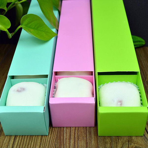 100pcs Solid Color 4 Grid Macaron Box Bakery Box for Biscuits Cookie Mooncake Packaging Paper Gift Boxes wen4434 20180920#