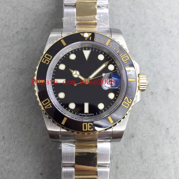 Best Quality Wristwatches N Factory 40mm 116613 116613LN 18K Gold & Steel Ceramic Bezel Swiss ETA 2836 Movement Automatic Mens Watches
