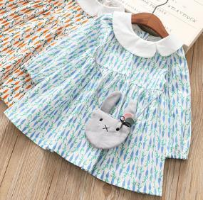 Baby Show The spring and autumn period and the new children's clothing han edition girls lovely lapel radish dress children dress sent the r