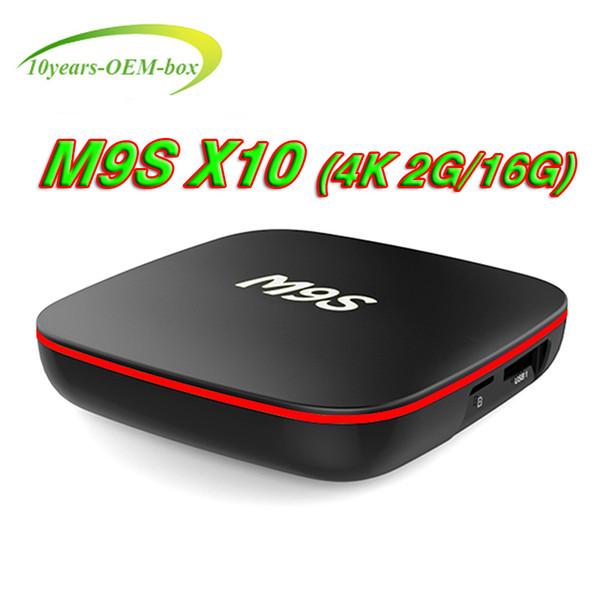 Best Quad Core M9S X10 Android TV BOX 2GB 16GB Bluetooth Android 7.1Media Player better MX2 TX3 X96 H96 MXQ PRO