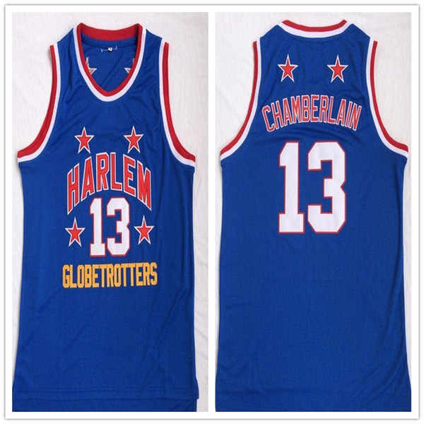 best service a53b4 acdd1 2017 Men'S Harlem Globetrotters 13 Wilt Chamberlain Blue Throwback Movie  Basektball Jersey From Caijianxiong, $16.1 | Dhgate.Com