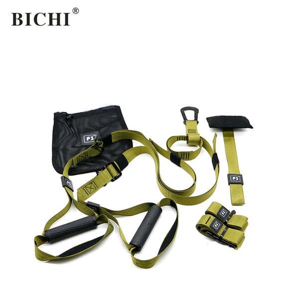 BICHI Suspension Trainer Super Exercise Resistance Bands Sport Strength Training Belt Workout Fitness Crossfit Equipment