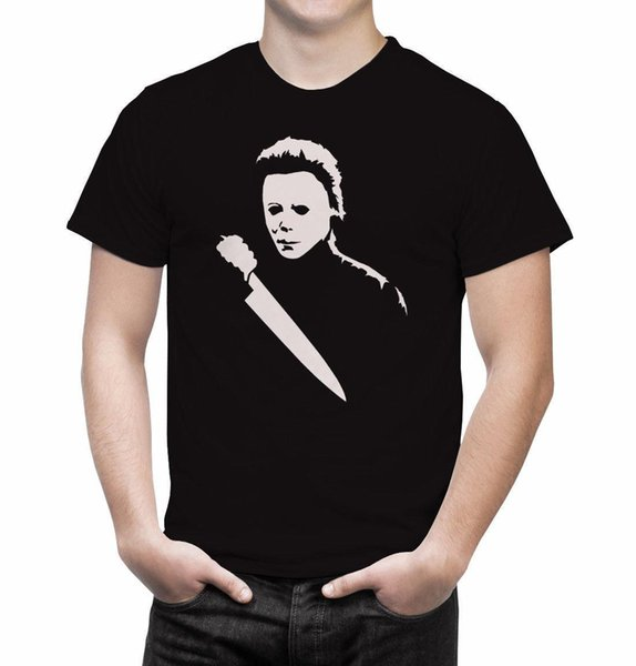Halloween Michael Myers Film d'horreur T-shirt D'été Nouveaux Hommes T-shirt En Coton top tee pré-coton Tee Shirt Pour Hommes