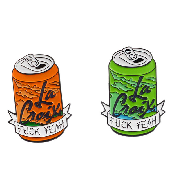 Punk Style Green Orange 2 Colors Cans Hard Enamel Brooche Pins for Women Men Gift Clothes Backpack Hat Accessories Lapel Pins Small Badge