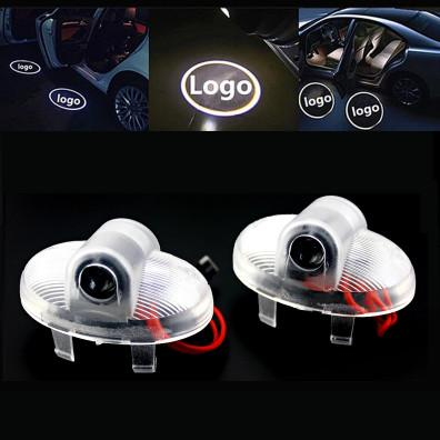 2pcs LED Car Door Step Lights Car Styling 3D Ghost Shadow Welcome Projector Light For Mazda 6core-wing Mazda8 RX-8 CX-9