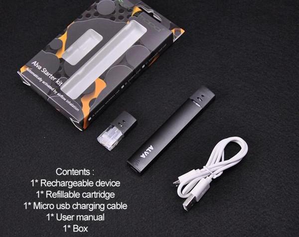 extract oil vaporizer vape pen flat pen electronic cigarette 250mah mini flat kit e smoking wax oil burner USB charging device set 2018