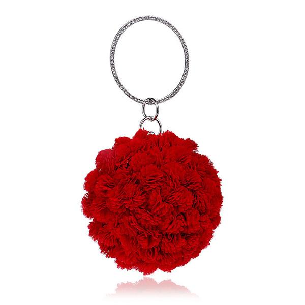 Neue 2018 neue Mode rote Blume Lady Abendtaschen Luxus Handtaschen Frauen Taschen Designer Abendessen Hochzeit Tasche Geldbörse elegante Tasche