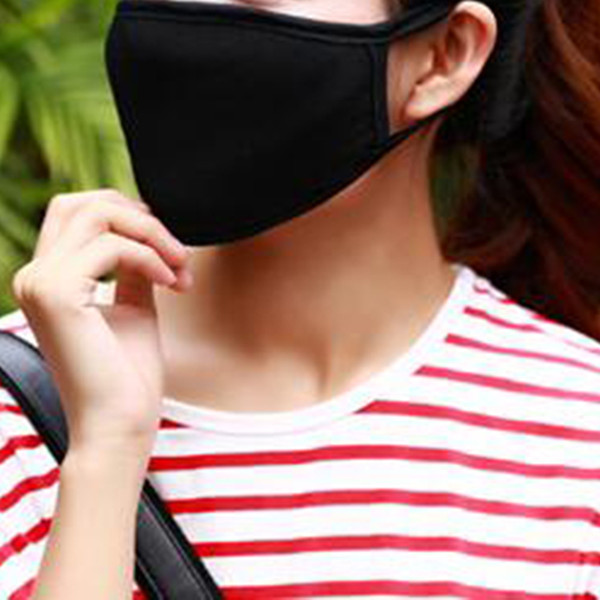 50pcs Anti-Dust Cotton Mouth Face Mask Unisex Man Woman Health Cycling Wearing Black Fashion High Quality Mouth-muffle