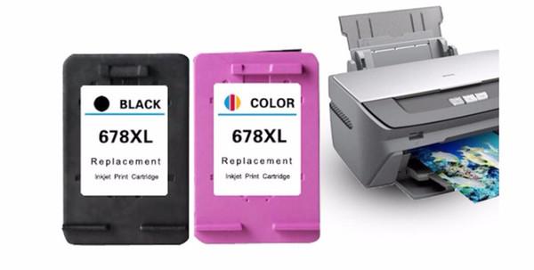 2pcs/set For hp678 ink cartridge black color 2648 4518 3548 1518 1018 4648 2548