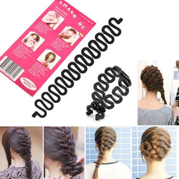 1PC Fashion Women Lady Roller Hair Twist Styling Clip Stick Bun Maker Braid Tool Locks Braider Weaves Hair Accessories