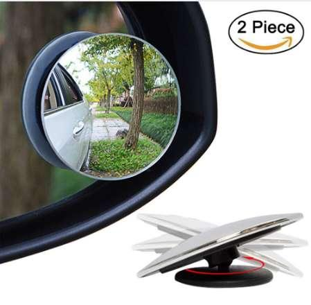 2 Pcs Car Styling 360 Degree Framless Blind Spot Mirror Wide Angle Round HD Glass Convex Rear View Mirrors CSL