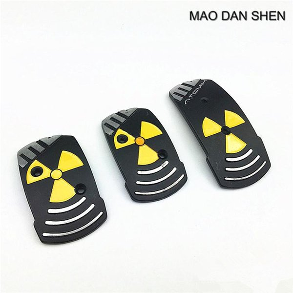Car styling Style Aluminum Non Slip Sport Universal Pedal Brake Pad Covers Manual Car 3 PCS / Set MAO DAN SHEN